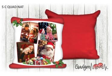 Cuscino Natale quadrato 40x40 -  Pacco regalo