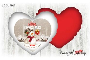 Cuscino Natale cuore 40x40 -  Merry Christmas