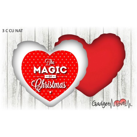 Cuscino Natale cuore 40x40 -  Christmas