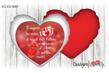 Cuscino Natale cuore 40x40 -  Amore nel tuo cuore