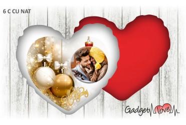 Cuscino Natale cuore 40x40 -  Pallina natalizia