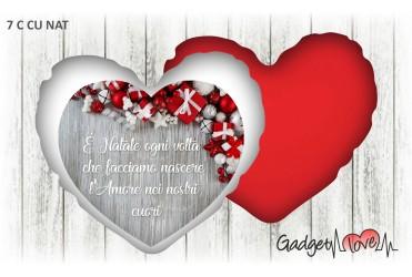 Cuscino Natale cuore 40x40 -  Amore nei nostri cuori