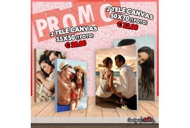 2 Tele Canvas (fotoquadro) 35x50