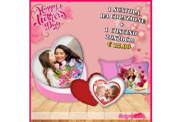 Festa della Mamma-scatola da colazione +cuscino