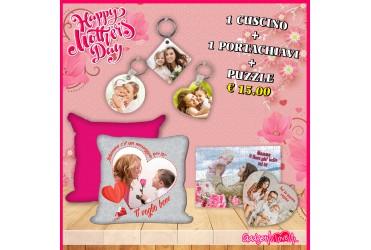 Festa della Mamma-cuscino+puzzle+portachiavi