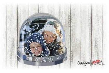 Photoglobe a campana con neve