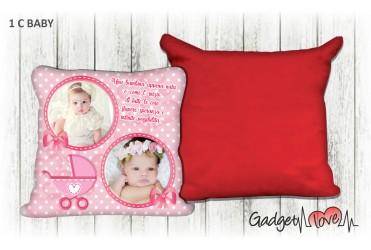 Cuscino Baby quadrato 40x40 -  Carrozzino Rosa
