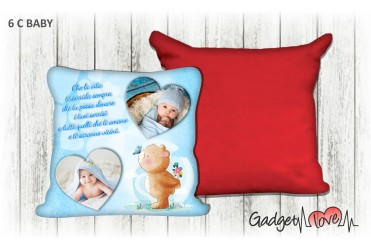 Cuscino Baby quadrato 40x40 - Orsetto azzurro