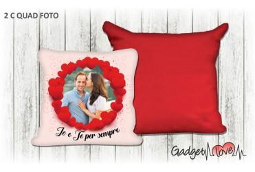 Cuscino quadrato con foto  - Love