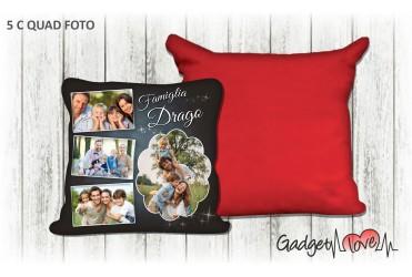 Cuscino quadrato con foto  - Famiglia