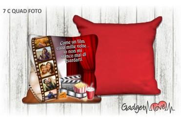 Cuscino quadrato con foto  - Movie