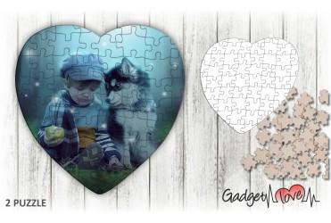 Puzzle legno a cuore personalizzato