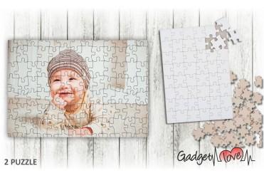 Puzzle legno rettangolare personalizzato