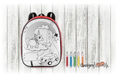 Zainetto da colorare per bambini