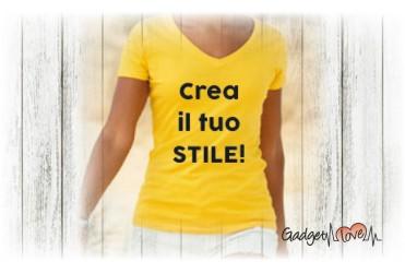 T-Shirt donna collo a V personalizzata