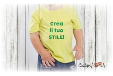 T-shirt bambino mezza manica personalizzata