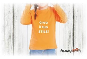 T-shirt bambino manica lunga personalizzata