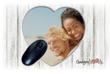 Tappetino Mouse cuore personalizzato