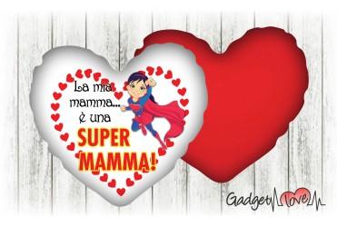 Cuscino cuore 40x40 Super Mamma