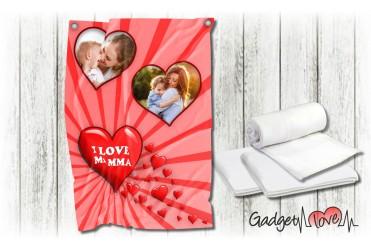 Plaid in pile Love Mamma