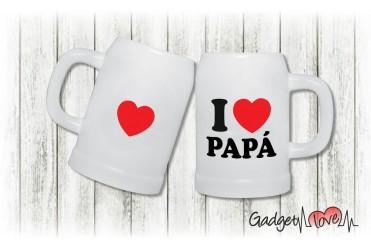 Boccale birra I love Papà