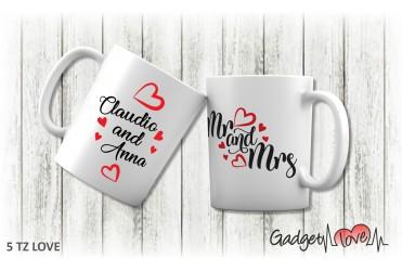 Tazza classica Mr e Mrs 2